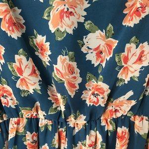 Charming Little Blue Floral Sundress